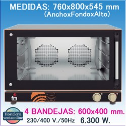Horno Conveccion Electrico FM RXL 604 PLUS