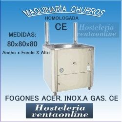 FOGON DE ACERO INOXIDABLE A GAS FG-80 CE
